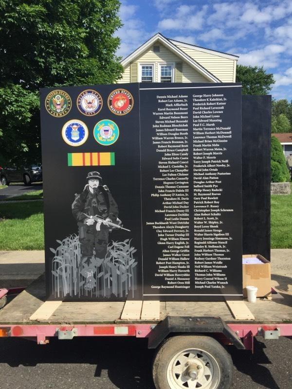 You can see this full scale replica of the proposed memorial in local events around the county